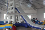 Pared inflable de la escalada del agua/equipo de deportes al aire libre de la diapositiva de la torre