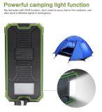 Solaraufladeeinheits-verdoppeln externer Batterie-Satz bewegliches 15000mAh USB-Solarladegerät-Energien-Bank-Telefon-Aufladeeinheit mit mit Carabiner Emergency LED Lichtern