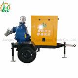 T pulsa a aguas residuales autocebantes la bomba de agua del motor diesel