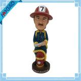 Figurinha Bobblehead De Resina Bobble Head Fireman Custom Bobblehead