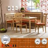 Tabela de carvalho e mobília de madeira ajustada da sala de jantar da cadeira
