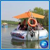 Barco eléctrico del buñuelo del Bbq de la fibra de vidrio del ocio del frunce para el parque