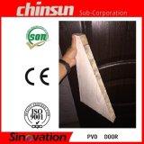Porte en bois enduite de PVC avec la glace (SV-P024)