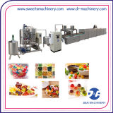 Linha de depósito doces frescos dos doces da geléia que dão forma a máquinas