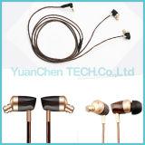 Fone de ouvido intra-auricular de armadura equilibrada de 3,5 mm com fio de madeira