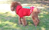 Vêtement chaud d'animal familier de Noël de Browm avec le bonhomme de neige d'éclairage de DEL