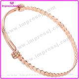 Bracelet de mode, bracelet de charme de fil de torsion