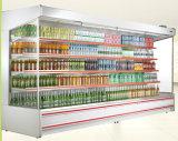 ミルクおよび飲み物のためのスーパーマーケットのショーケースのフリーザー