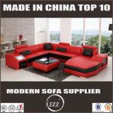 Mobília da sala de visitas do sofá do couro da forma de U feita no sofá de China