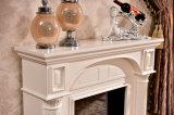 Einfache europäische weiße hölzerne Heizungs-elektrische Kamin-Hotel-Möbel (332)