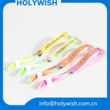 Braceletes coloridos do Sublimation da tela dos Wristbands do cetim da forma