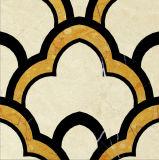 Mattonelle di pavimento di marmo di pietra naturali decorative personalizzate del getto di acqua