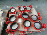 A válvula de borboleta de borracha substituível macia nas válvulas com Ce & ISO aprovou (CBF02-TA04)
