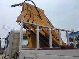 Dongfeng 4*2 LHD HD 180HP 유압 트럭에 의하여 거치되는 Foldable 팔 기중기 트럭