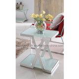 Самомоднейшая таблица стороны Tempered стекла нержавеющей стали