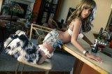 De volwassen Plastic Koningin Elektronische Douane van Doll van 18 Duim de Naakte Sexy rijpt Doll van het Geslacht van het Silicone van 140cm Lang Mini