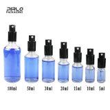 (5ml 10ml 15ml 20ml 30ml 50ml 100ml) bottiglia cosmetica libera di Galss dell'olio essenziale con lo spruzzatore della lozione