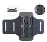 Het nieuwe Geval van de Telefoon van het Holster van de Armband van de Sport van de Douane van 5.5 4.7 Mensen van de Duim Zwarte Lycra Gepersonaliseerde Weerspiegelende Lopende Mobiele voor iPhone 6 7