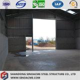 Construction en acier légère préfabriquée pour l'entrepôt