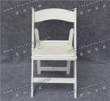 Folding White Outdoor Plastic Chair à vendre Yc-P66