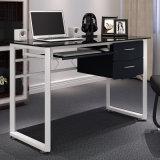 Innenministerium-Möbel-Glascomputer-Schreibtisch für Büro-Studie mit Tastatur und Fach