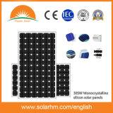 (HM305M-72) TUV 증명서를 가진 305W Mono-Crystalline 태양 전지판