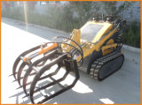 Mini Skid Steer Loader avec Diesel Engine Rubber Tracks Italie Hydraulic System