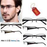 La lente por encargo enmarca marcos ópticos baratos del metal de Eyewear de la manera