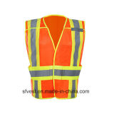 Hallo Apparatuur Workwear 5 van de Verkeersveiligheid van het Vest van de Motorfiets van het Vest van de Veiligheid van het Netwerk van Vis Workwear de Weerspiegelende Het Afgescheiden Vest van het Punt