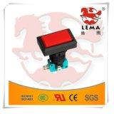 Lema iluminó los interruptores cuadrados del micr3ofono del pulsador