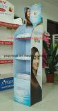 Haircareの製品のための3つの棚が付いているボール紙POSのフロア・ディスプレイ、シャンプーのボール紙のフロア・ディスプレイの立場