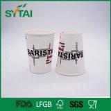 Tazza di carta stampata di prezzi della bevanda del tè caldo poco costoso superiore a gettare del caffè