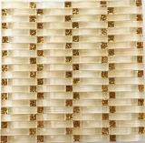 波状のガラスモザイク、アーチのガラスモザイク壁のタイル(HGM260)
