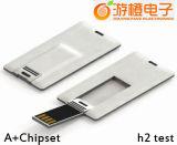 Karten-Schlag-Art USB-Blinken-Laufwerk (OM-P515)