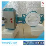 Vanne papillon chemisée par PTFE Wth d'anticorrosion de corps de fer de moulage pneumatique en Chine Bct-F4pbfv-1