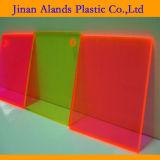 Hoja material transparente de los colores PMMA Acrilico