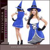 """Traje """"sexy"""" do vestido da bruxa extravagante adulta do partido de Halloween das meninas do carnaval (TLZQ6511)"""