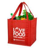 큰 크기 식료품류 선전용 어깨 비 길쌈된 끈달린 가방