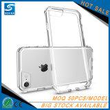Caisse en cristal hybride claire en gros de téléphone pour l'iPhone 8