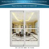 Tempered/Toughened стеклянные алюминиевые нутряные двери вися раздвижные двери дверей