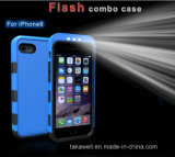 Новое iPhone 5/5s/6s/6 Plus аргументы за Case СИД Selfie Light Phone высокого качества Luxury для Samsung S5/S6/S7 Luminous Phone Cover