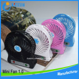 3.7V 리튬 건전지를 가진 다채로운 휴대용 Rechargeablet 소형 탁상용 선풍기