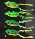 Black Fish Lure Hand Make Frog Lure Sombra suave
