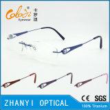 Het lichtgewicht Randloze Frame van de Glazen van Eyewear van het Oogglas van het Titanium Optische met Scharnier (5013)