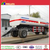 2 essieux 20t 28feet Cargo Draw Bar Flatbed Dolly Trailer