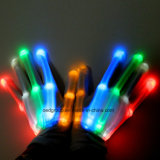 Rainbow LED parpadeante Guantes Decoración Finger Bone LED