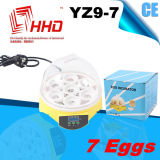 Automatic pieno 7 Eggs Incubator per Teacher 's Teaching (YZ9-7)