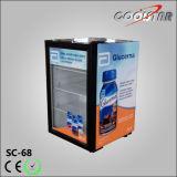 Showcase de vidro do refrigerador da barra da porta com parte dianteira transparente (SC68)