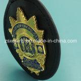 Distintivo di cuoio militare dello smalto su ordinazione poco costoso dell'oro