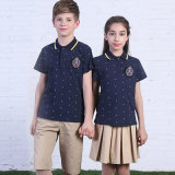 유럽 Short Sleeve100%Cotton Wholesale는 Polo와 가진 Primary School Uniforms를 관례 만들었다